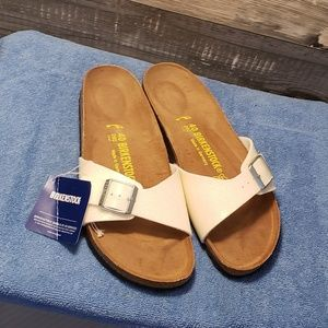 Birkenstock Sandals, sparkly white